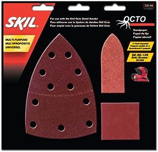 SKIL 73114 Octo Sandpaper Kit, Asst Grit – 15 Pack