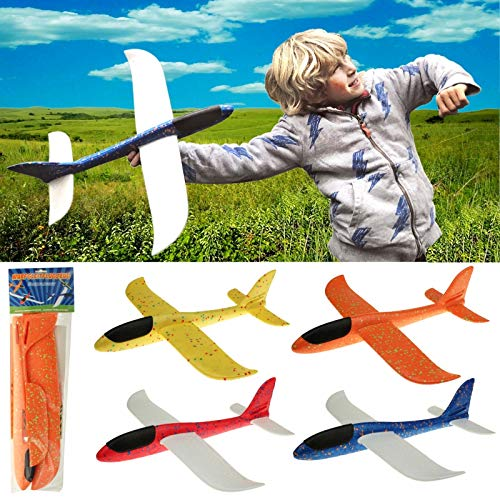 wuselwelt 601385, RIESEN Wurf Gleitflugzeug, 46 x 48 cm, Wurfgleitflugzeug, EIN tolles Flugzeug zum Zusammenbauen, Bekleben und Werfen