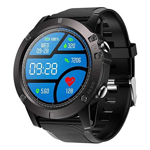 IP67 Wasserdichte Herzfrequenz Smartwatch Bluetooth4.0 Armband Monitor Smart Sport Armbanduhr Fitness Tracker Armband Schrittzähler Remote-Kamera Watch für Android4.4/ios8.0 und höher (schwarz)