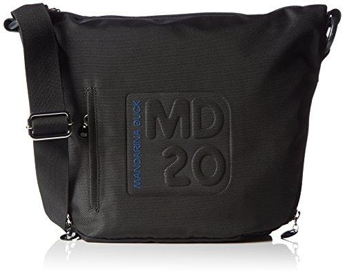 Mandarina DuckMD20 - Borsa a tracolla Donna , Nero (BLACK 651), 23x8x25 cm (B x H x T)