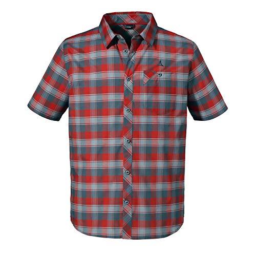 Schöffel Herren Shirt Bischofshofen3 Hemd, Fiery red, 64
