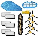 Recambios Repuestos para Cecotec Conga Excellence 990 con 1 Cepillo Principal&6 Cepillo Lateral &6 Filtros& 5 Mopas &1 Prefiltro