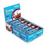 Energy Jelly Bar Cereza. 32g x 24 barritas Aportan vitaminas, minerales y zumo de remolacha. Sin Gluten.