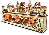 Gnomelstube Collection - Base luminosa a LED in legno con timer, arco di Natale, villaggio di Natale, con piedistallo e timer