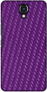 AMZER Slim Designer Snap On Hard Case Back Cover for Infinix Note 4 - Carbon Fibre Redux Electric Violet 3