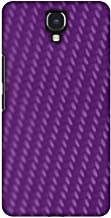AMZER Slim Designer Snap On Hard Case Back Cover for Infinix Note 4 - Carbon Fibre Redux Electric Violet 3