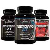 Swole Stack by Ai Sports Nutrition | Powerful Muscle Building Stack Containing Testopro XT, Stoked XT, and Glycobol XT Full Sized Bottles