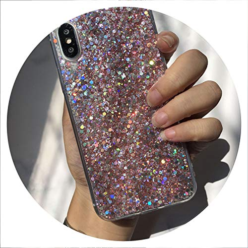 Bling Glitter Crystal Sequins Phone Case for Huawei P Smart P20 Mate 10 Pro P10 P8 P9 Lite 2018 Nova 2S 2i 3i Honor 8 9 10 Case,Pink,for Mate 10 Lite