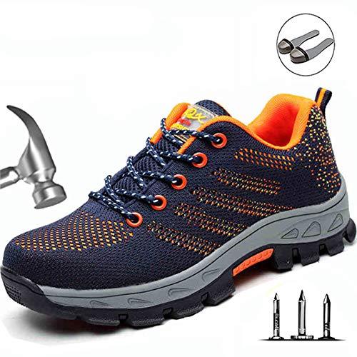 Ann veiligheidslaarzen heren Urgent werkschoenen met stalen doppen industriële schoenen S1P/SRC, EU39/UK6.5