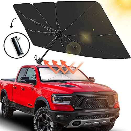 Sedan SUV Car Windshield Sun Shade,Foldable Automotive Windshield Shade,Sunshades Car Umbrella for Windshield Easy to Store and Use Fits Windshields of Various Sizes