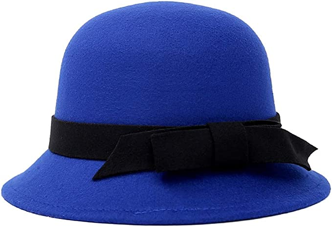 1920s Hat Styles for Women – History Beyond the Cloche Hat ChenXi Store Womens Gatsby Winter Wool Cap Beret Beanie Cloche Bucket Hat  AT vintagedancer.com