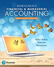 Horngren's Financial & Managerial Accounting, The Financial Chapters Plus MyLab Accounting with Pearson eText -- Access Ca...