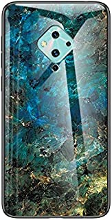 Premium Phone Case For Vivo V17 S1 Pro Marble Pattern Tempered Glass Case, Anti-fall Shockproof TPU Protective Bumper Cove...