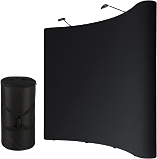 Yescom 10X8Ft Backdrop Booth Frame Pop Up Display Kit w/Spotlights & Rolling Case & PVC Panel for Customed Graphic