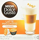 Nescafe Dolce Gusto for Nescafe Dolce Gusto Brewers, Caramel Latte Macchiato, 16 Count, 5.95 Ounce (Pack of 3) by Driscolly