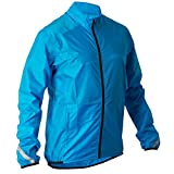 Btwin Waterproof Cycling Jacket (Blue, Small)