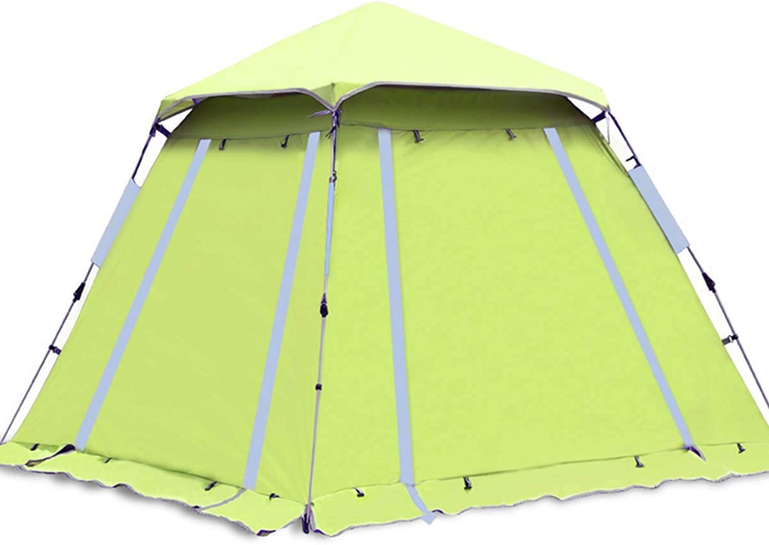 Camping Tent with Uv Predection, 4-5 Person Windproof and Rainproof Instant Tent, Anti Mosquito Pop Up Fishing Tent Perfect for Beach, Dating and Hiking,Light Green