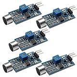 DAOKI 5PCS High Sensitivity Sound Microphone Sensor Detection Module for Arduino AVR PIC