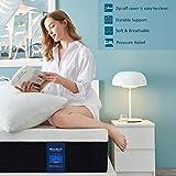 Molblly 7 Zonen Matratze 100 x 200 cm, härtegrad H3 hochwertige Memoryschaum Matratze, ergonomische Matratze für erholsamen Schlaf, HRX-Schaum Matratze Oeko-TEX® 100,Höhe 15cm - 2