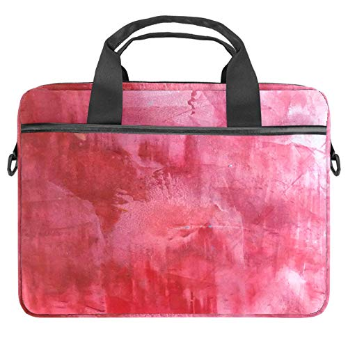 Red Abstract Painting 14 Inch Laptop Sleeve Case Messenger Shoulder Bag Padded Nylon Shockproof Waterproof Briefcase for 13.4-14.5 Inch Notebook