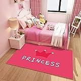 ZXW Alfombra- Rectangular Kids Room Alfombra Princess Room Girl Rug Yoga Creeping Alfombra Alfombra Living Room Manta, Lavable a máquina, Disponible en 12 Modelos, 4 tamaños para Elegir