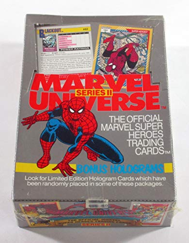 MARVEL UNIVERSE Series II Trading Card Box -36 Factory Sealed Packs (1991) image