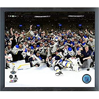 Framed Louis Blues 2019 Stanley Cup Champions Team Photo St Size: 12 x 15
