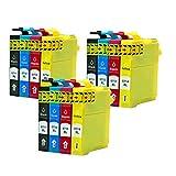 Caidi® - Cartuchos de tinta compatibles con Epson T0711, T0712, T0713, T0714, para Epson Stylus SX218, SX200, SX205, SX100, SX105, S20, SX400, D78, D92, DX4000, DX7400, Office BX300F 12