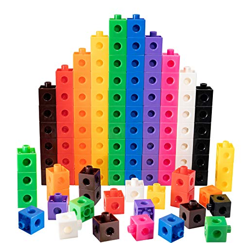TOYLI 100 Piece Linking Cubes Set for Counting, Sorting, STEM, Essential Skills, Motoric, Connecting...