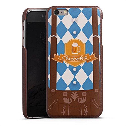 DeinDesign Cover kompatibel mit Apple iPhone 6s Plus Lederhülle Leder Case Leder Handyhülle Oktoberfest Lederhose Bier
