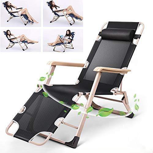 ZDYLM-Y Relax-liegestuhl Klappbar mit Kopfstütze Einstellbare Folding Terrasse im Freien Lounger Chair, für Deck Patio Strand Yard