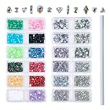 Outuxed 3196pcs AB Crystal Flatback Rhinestones Mixed Size and Shapes 3D Nail Art Rhinestones Glass Charms Gems Stones with 1 Picking Pen for Crafts 3d glasses Dec, 2020