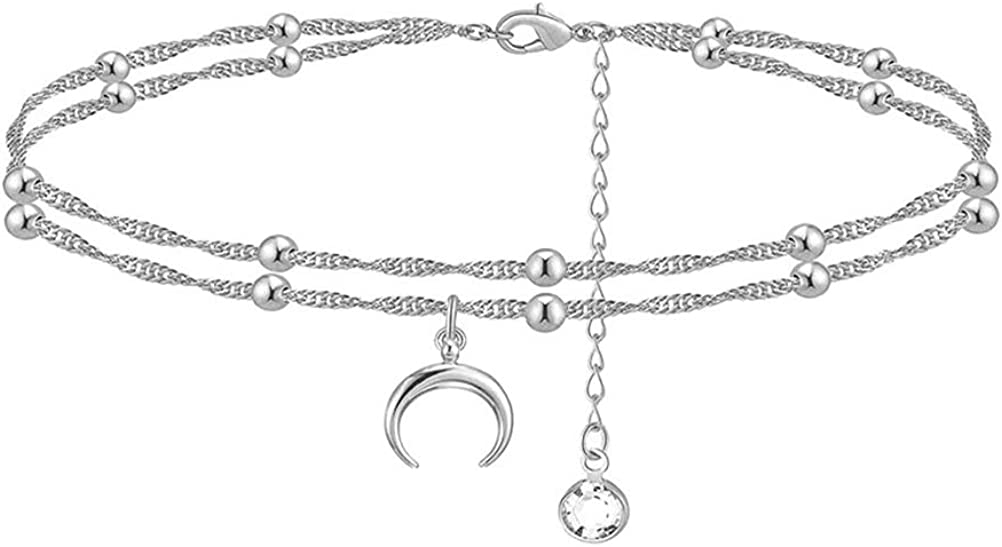 Limited price SEVENSTONE Initial Ankle Bracelets Save money for Fill Dainty Layered Women