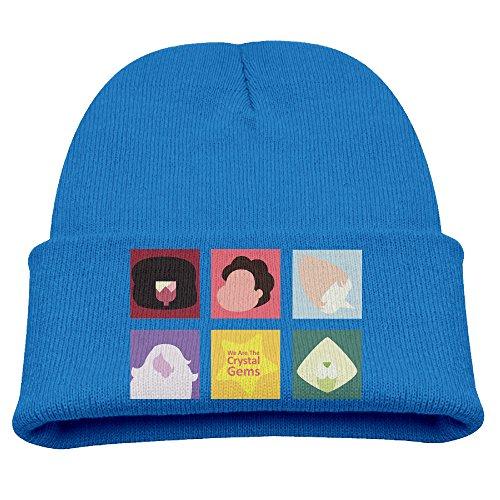 Babala Steven Universe Child Knitted Beanie Cap Hat Skull Slouchy Cap Hat RoyalBlue