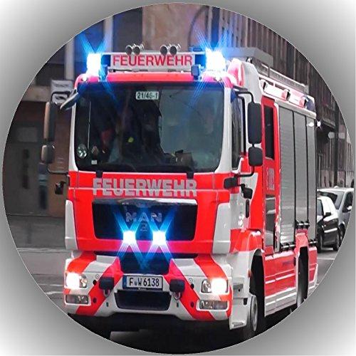 Fondant Tortenaufleger Tortenbild Geburtstag Feuerwehr T6