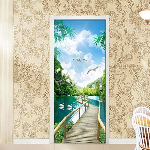 PMSMT Vivid 3D Pegatinas de Asiento de Inodoro para decoración del hogar DIY Sealife Flores Estrella de mar Elefante Paisaje patrón de Pared Arte Mural PVC Deca