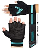 Xtrim - Macho X - Washable Leather Gym Workout Gloves - Black ( M / L / XL ) For Men