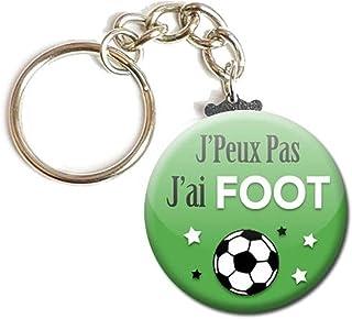 Porte Clés Chaînette 3,8 centimètres j' peux pas j' ai Foot Sport Idée Cadeau Accessoire Humour Homme Femme Excuse