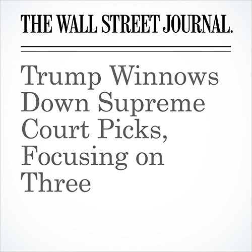 Trump Winnows Down Supreme Court Picks, Focusing on Three copertina