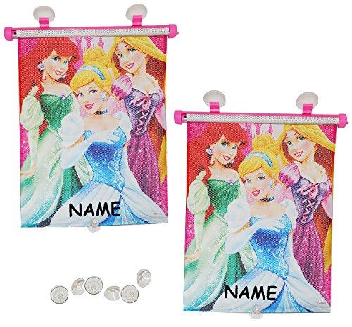 Preisvergleich Produktbild alles-meine.de GmbH 2 TLG. Set Sonnenschutz Rollo - Disney Prinzessin - incl. Name - Arielle Rapunzel Cinderella - für Fenster und Auto Seitenscheibe - Sonnenblende - Mädchen Kin..