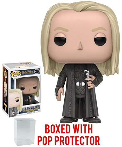 Funko Pop! Movies: Harry Potter - Lucius Malfoy #36 Vinyl Figure (Bundled with Pop Box Protector Case) image