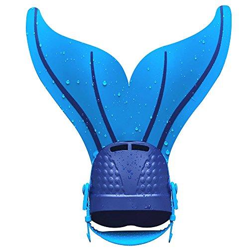 Alxcio Meerjungfrau Flossen Silikon Monofin Taucherflossen Schwimmtraining Verstellbar Monoflossen für Kinder Schwimmflossen Freestyle Schwimmen Fin by