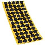 Almohadillas antideslizante de Adsamm de EPDM de caucho celular, en diferentes tamaños, de color negro, autoadhesivas, de alta calidad (2,5mm), Negro