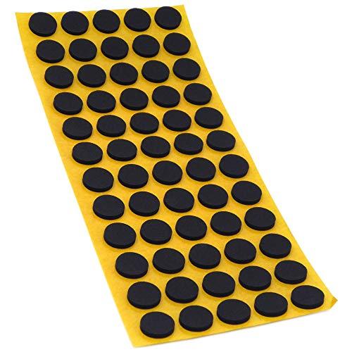 60 x Antirutsch Pads aus EPDM/Zellkautschuk | rund | Ø 14 mm | Schwarz | selbstklebend | Rutschhemmende Pads inTop-Qualität (2.5 mm)