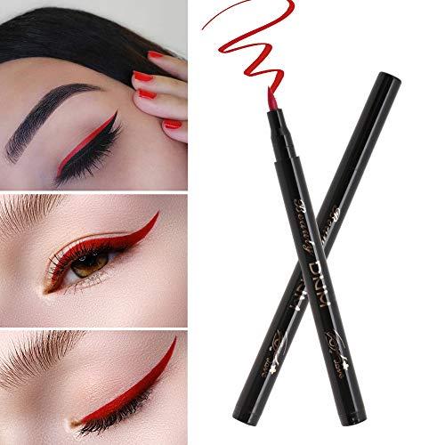 Cosmétique pour l'eye-liner, outil cosmétique de l'oeil imperméable durable de crayon d'eye-liner(06# red)