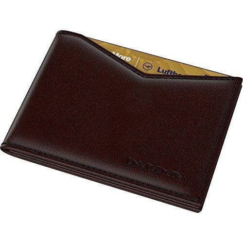 DARDON Portafoglio Uomo Slim in Vera Pelle - Mini Porta Carte di Credito e Tessere con Clip per Banconote - Portafogli Ultra Sottile con Fermasoldi