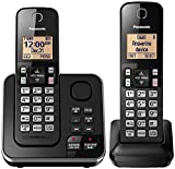 Panasonic Cordless Telephone with Answering Machine KX-TGC362B - 2 Handsets (Black)