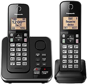 Panasonic Cordless Telephone with Answering Machine KX-TGC362B - 2 Handsets  Black