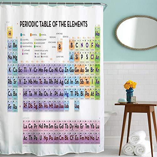 FeiliandaJJ Duschvorhang Anti-Schimmel 150x180cm, Badevorhänge Anti-Bakteriell Drucken Wasserdicht Stoff Badewanne Vorhang Shower Curtain mit 12 Duschvorhangringen für Badezimmer (C)
