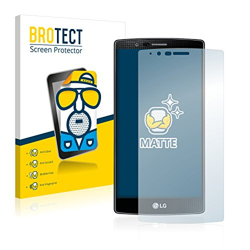 BROTECT 2X Entspiegelungs-Schutzfolie kompatibel mit LG G4 Bildschirmschutz-Folie Matt, Anti-Reflex, Anti-Fingerprint